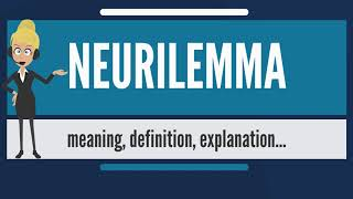 What is NEURILEMMA? What does NEURILEMMA mean? NEURILEMMA meaning, definition & explanation