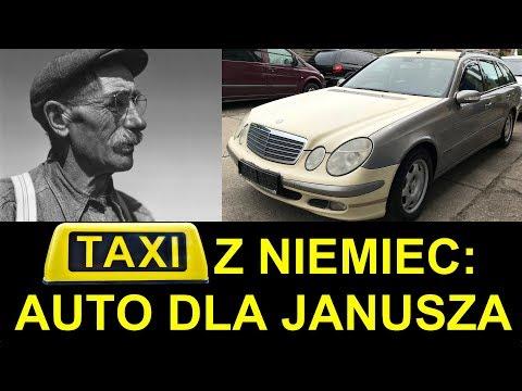 Ile kosztuje TAXI Mercedes z Niemiec W211 E220 CDI