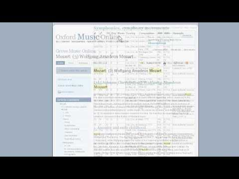 How to search Oxford Music Online