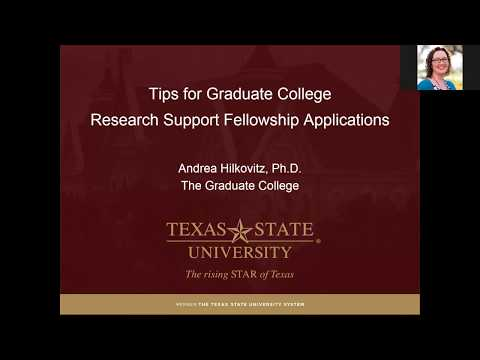Tips for Graduate College Research Support Fellowship Applications