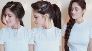5 Easy Hairstyles For College , Office Girls   1 Min Hairstlyes   Anukriti Lamaniya