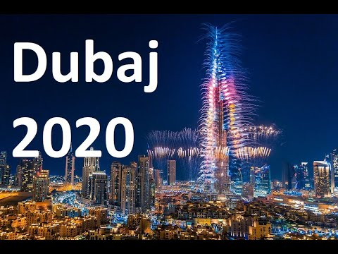 New Year's 2020 Sylwester w Dubai Burj khalifa Fireworks 2020