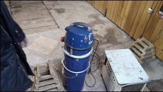 сделай сам.СТРОИТЕЛЬНЫЙ ПЫЛЕСОС ИЗ ХЛАМА (С ДВОЙНЫМ ЦИКЛОНОМ).vacuum cleaner with cyclone