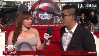 Darren Gan- CEO of Comicave Studios on the Marvel's Captain America: Civil War Red Carpet