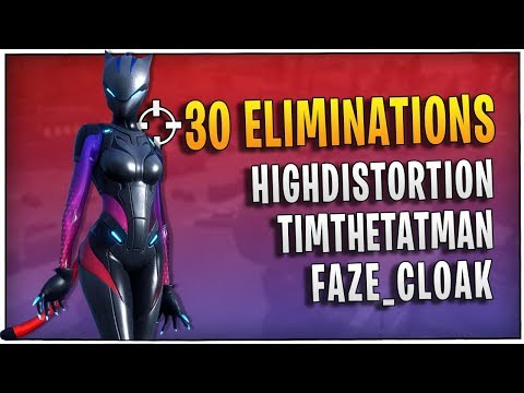 Fortnite - 30 Eliminations with High Distortion, TimTheTatMan, & Faze_Cloak | DrLupo