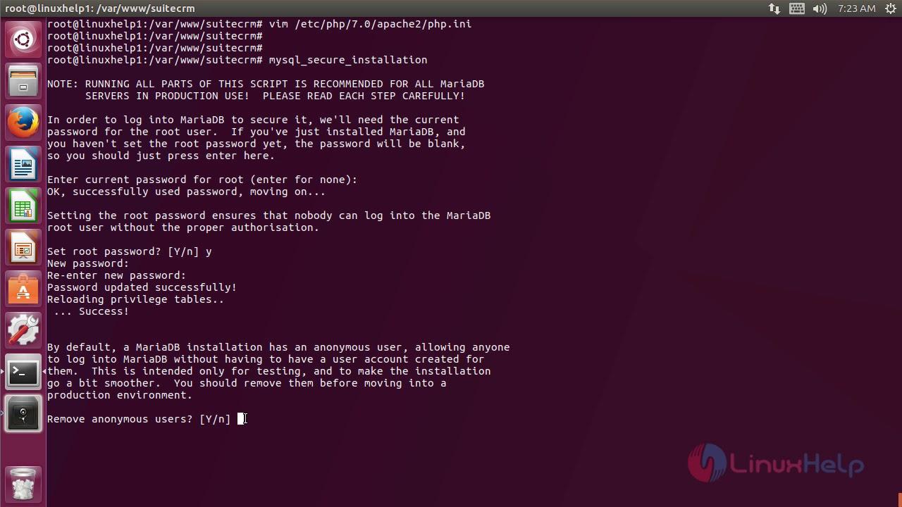 How to install SuiteCRM 7 10 2 Ubuntu 17 04   LinuxHelp