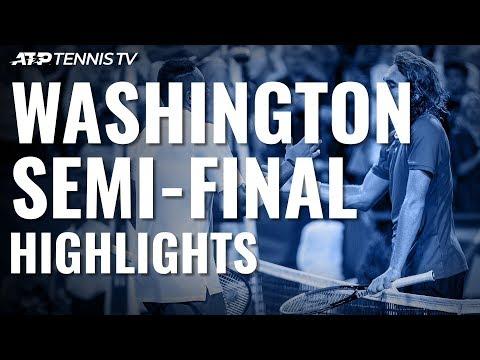 Kyrgios Edges Tsitsipas in Thrillride; Medvedev Cruises   Washington 2019 Semi-Final Highlights