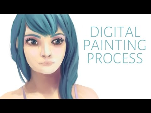 Digital Painting Process (Clip Studio Paint) | How I make my paintings