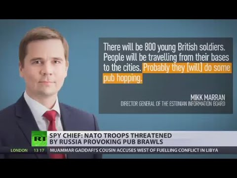 Estonia's spy chief: NATO troops threatened by Russia provoking pub brawls