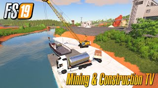 Selling Crude Using Ferry Mining And Construction Map Economy Map Farming Simulator 2019