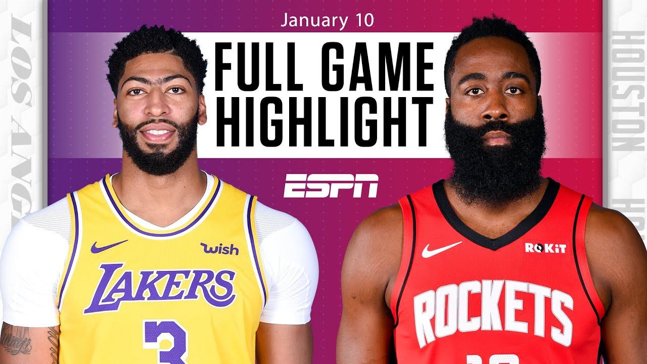 Lakers vs. Rockets - Game Recap - January 10, 2021 - ESPN