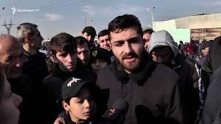 Ցուցարարները վաղ առավոտից փակել էին Էջմիածին-Երևան ճանապարհը