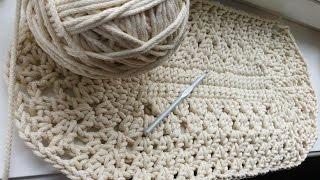 Вязание Овального коврика крючком ДЛЯ НАЧИНАЮЩИХ. 1 и 2 ряд. (CROCHET OVAL RUG. 1-2 Rows)
