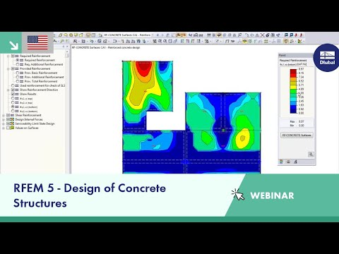 Dlubal Webinar: RFEM 5 - Design of Concrete Structures