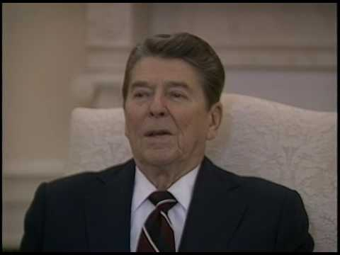 President Reagan Interview with European Journalists in the Oval Office on January 10, 1986