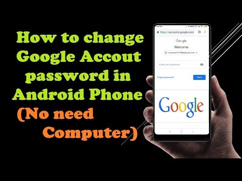 How To Change Google Account Password From Android Phone