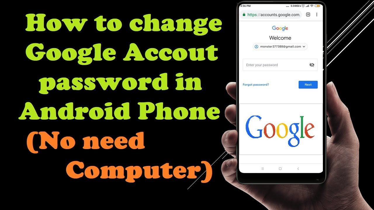 change google account associated with android phone