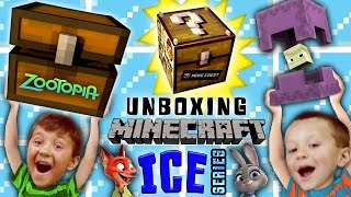 Stolen MINECRAFT Minechest from Zootopia! + Ice Series Mini-Figure Blind Bags Fun w/ FGTEEV Boys thumbnail