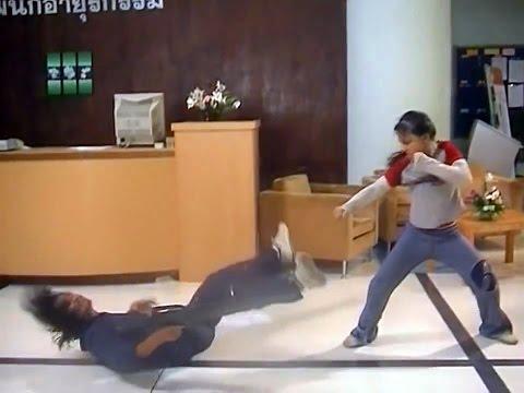 "Thailand kids in real stunt work! Dangerous flips and Muay Thai movements. Making movie ""Power Kids"""