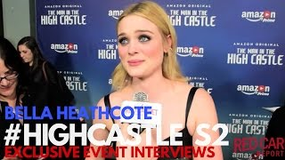 Bella Heathcote Interviewed at The Man in the High Castle Season 2 Premiere #HighCastle