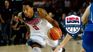 Derrick Rose Team USA Offense Highlights (2014) - EXPLOSIVE!