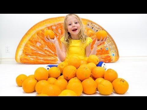 Stacy y una cancin para nios sobre frutas y colores.