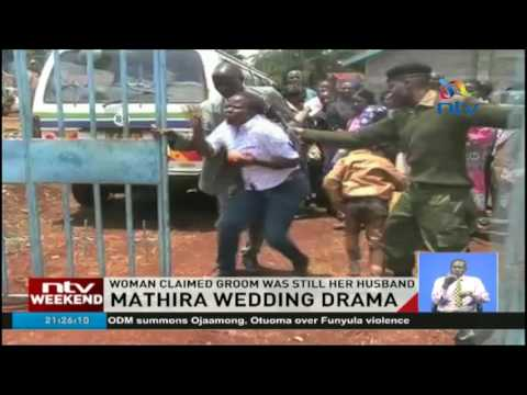 Wedding drama: Woman unsuccessfully tries to stop wedding in Mathira