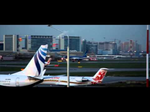 AZAL Boeing 757 200 landing at LED - St. Petersburg