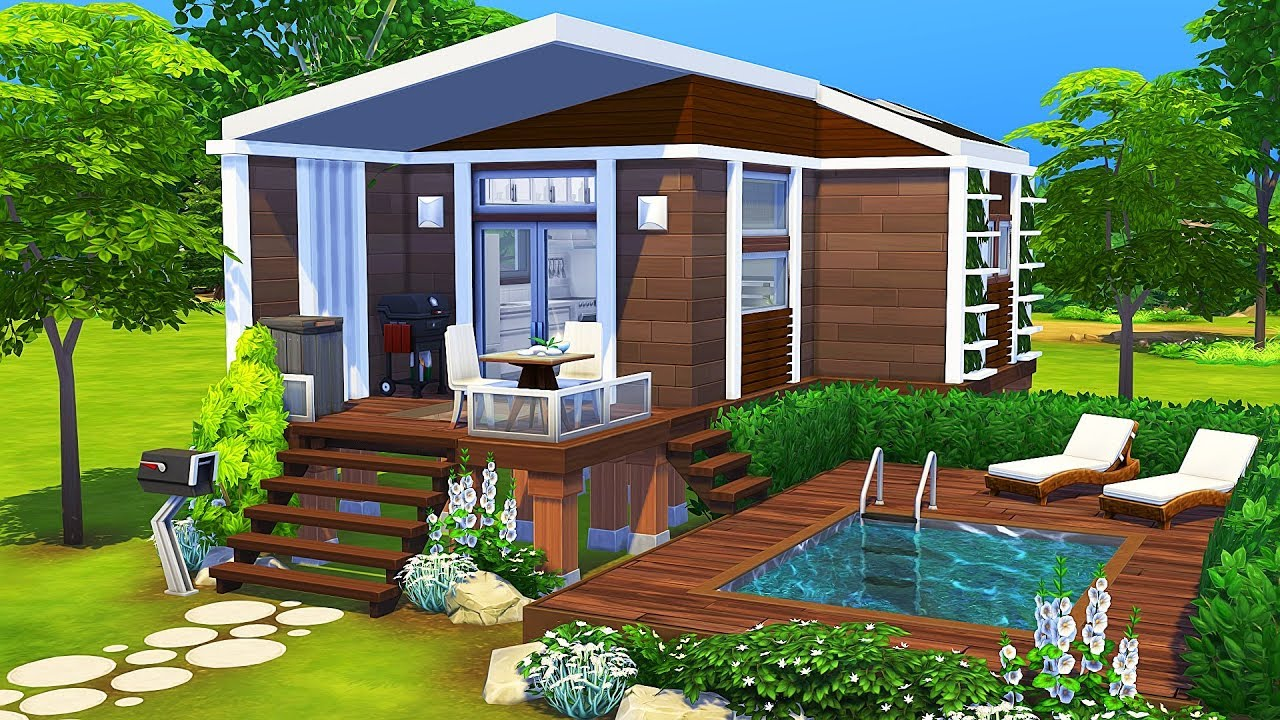 LUXURIOUS TINY HOUSE 🌲  The Sims 24  Speed Build