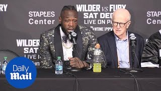 Deontay Wilder reacts to draw with Fury despite knock downs