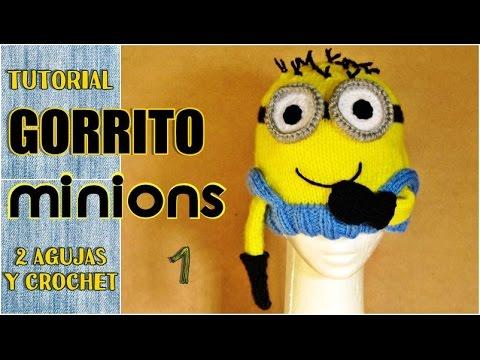 DIY Gorro de MINIONS, paso a paso (1 de 3) en VARIOS TALLES - YouTube