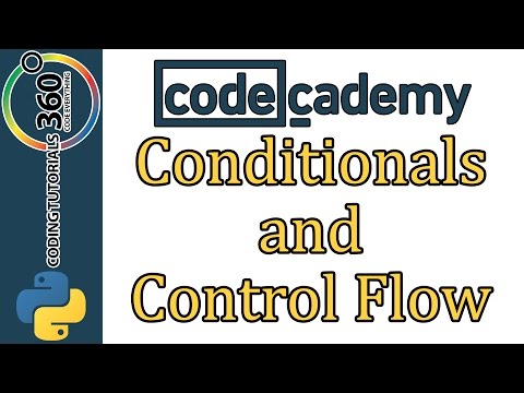 Learn Python with CodeCademy: Conditionals and Control Flow