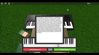 Roblox Piano - Rockabye - Clean Bandits (Remake of the sheet) (Notes in description)