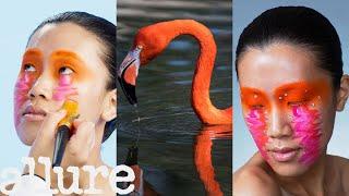 3 Makeup Artists Turn a Model Into a Flamingo | Triple Take | Allure