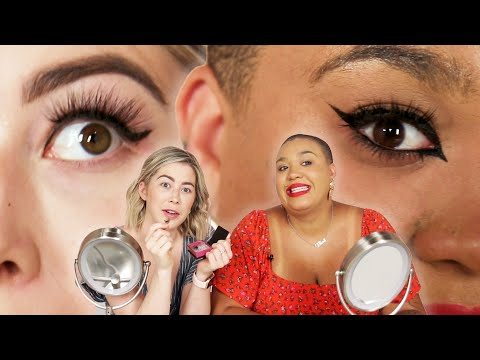 Best Friends Try Magnetic Eyeliner And Eyelashes thumbnail