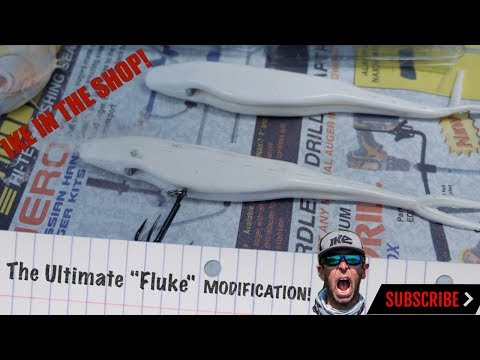 How To Modify Your Fluke To Catch More Bass!