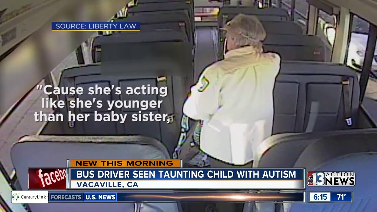 Bus driver caught taunting student on bus