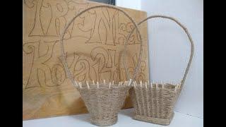 Корзинка из жгута//Harness Basket//Arnés cesta