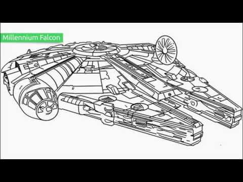 Top 25 Free Printable Star Wars Coloring Pages - YouTube