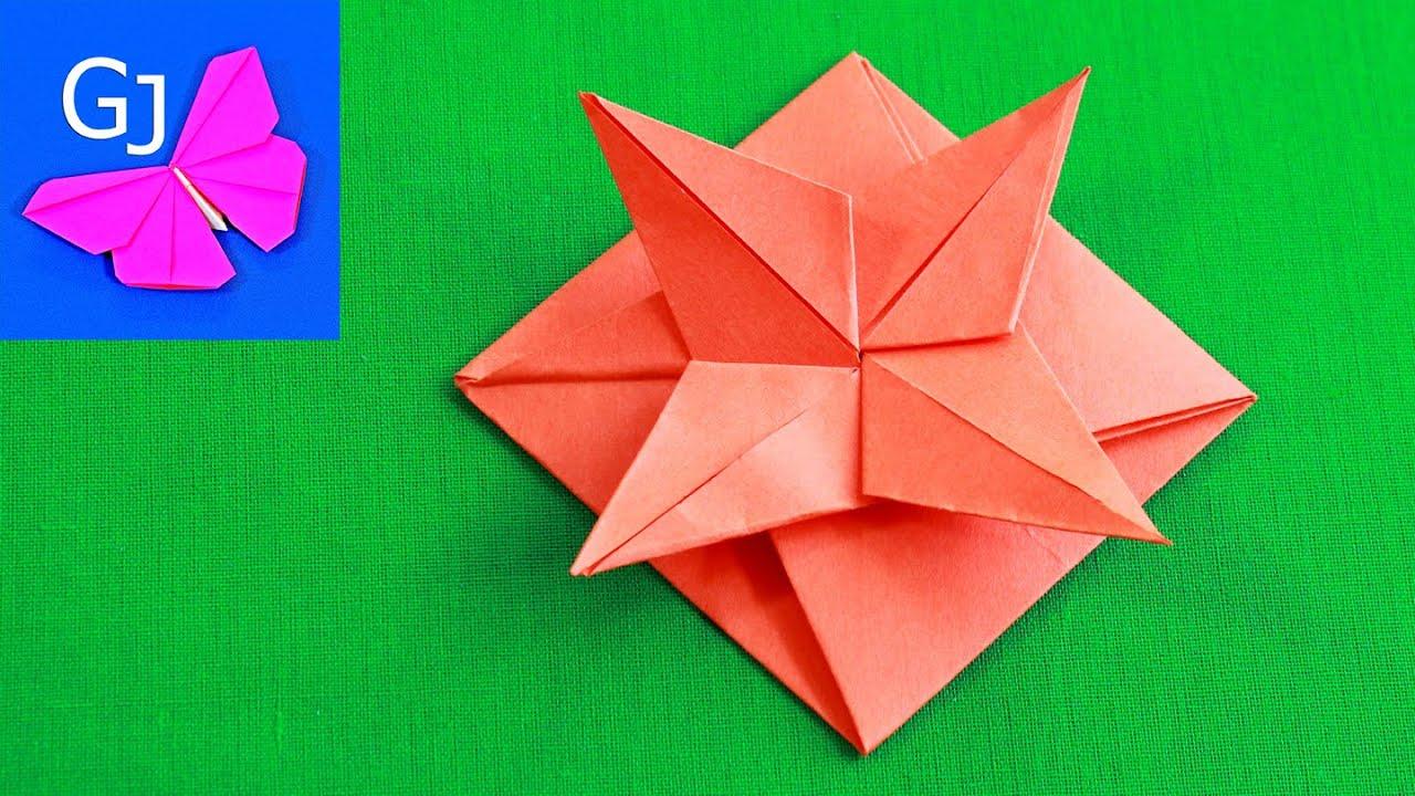 Росписи картинки, видео оригами из бумаги открытка