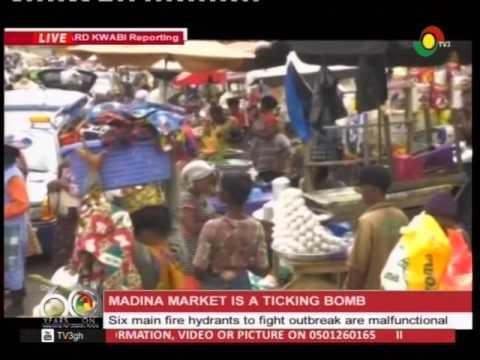 Madina market  declared a market a ticking bomb - 11/4/2017