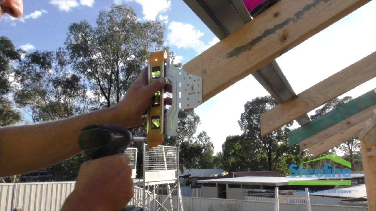 Steeline - How to Build a Roof - Part 2 Installing Rafter Brackets