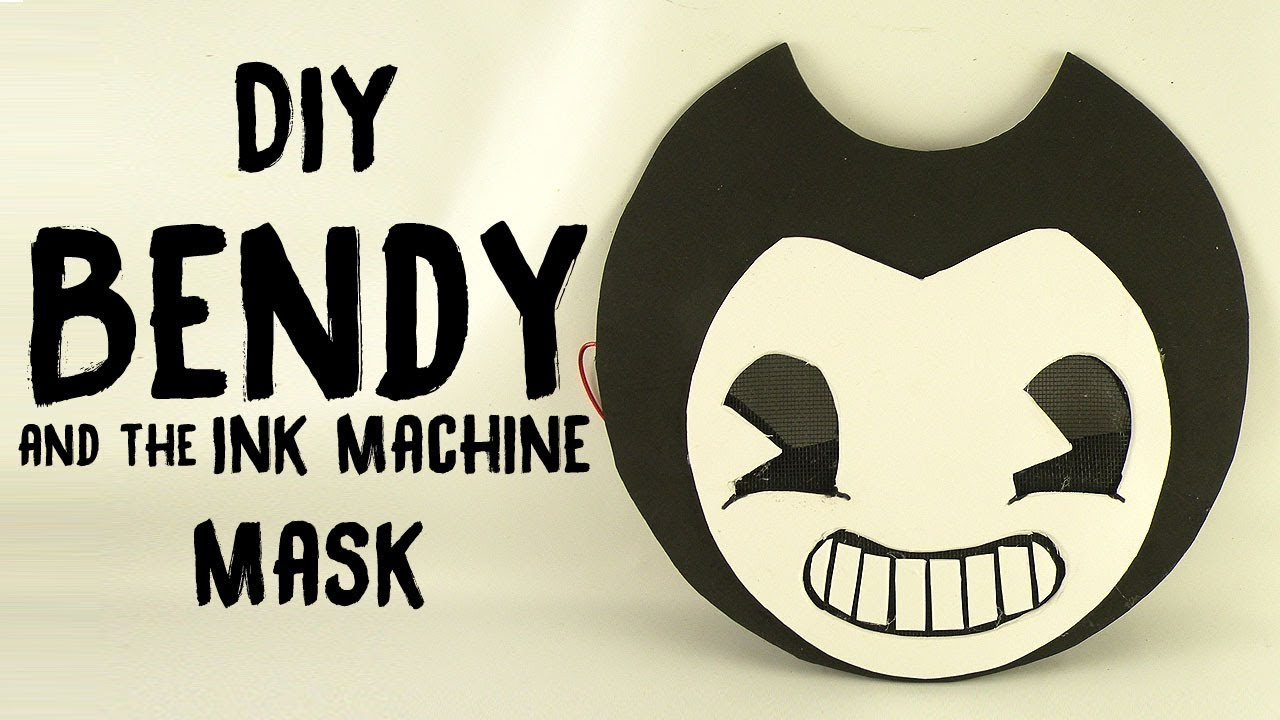 diy bendy and the ink machine mask youtube