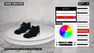 nba 2k17 shoe creator air jordan 6 low black chrome