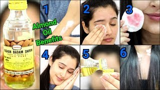 TOP 10 USES & BENEFITS OF ALMOND OIL for SKINCARE, HAIRCARE & BEAUTY