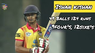 Ishan kishan fastest T20 century (49 balls 124 runs).