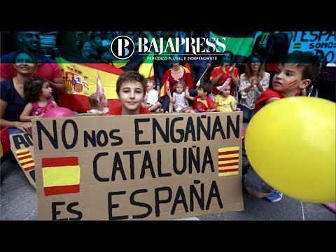 Masiva manifestación en Barcelona contra la independencia de Cataluña