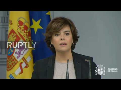 Spain: Puigdemont has until Thursday to 'clarify if he has declared independence' – Deputy PM