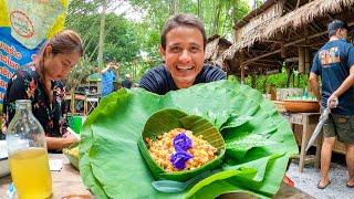 $1.30 Thai Salad at BAMBOO FOREST Market!! Thailand's Green Food Paradise   Phatthalung (พัทลุง)