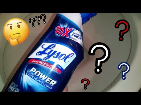 Lysol Power Toilet Bowl Cleaner | Review & Demo | Crazy Cleaner